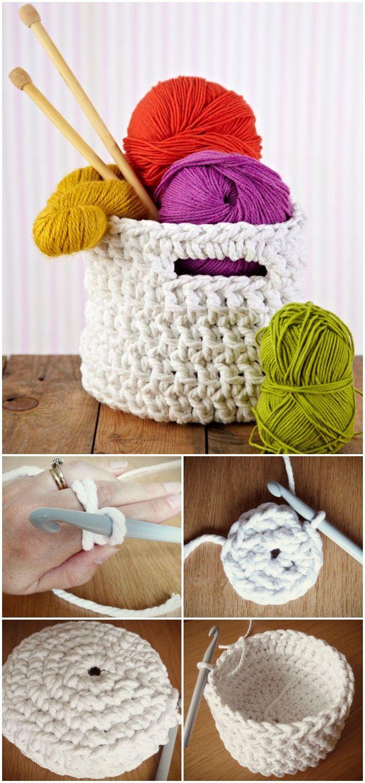 Free Crochet Basket Patterns – Crochet Basket Tutorial #crochetbowl