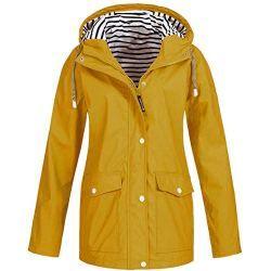 b566635b238464 Womens Lightweight Raincoats Unisex Hooded Waterproof Sport Active Outdoor  Rain Jackets Windproof Windbreaker Rainwear for Men