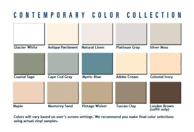 Alside Contemporary Colors Alside Vinyl Siding Pinterest Vinyl
