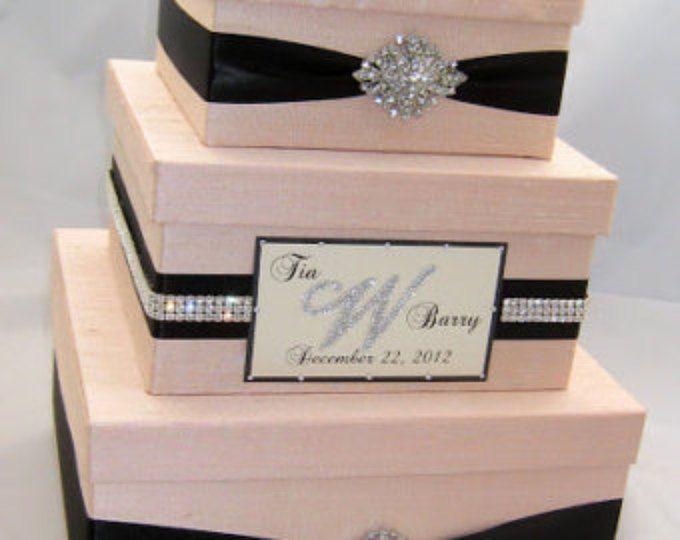 Rhinestone Card Box Box For Cards Card Holder Wedding Card Box