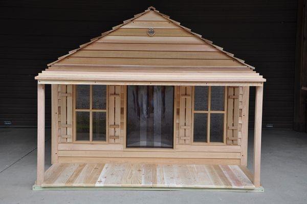 Goliath Dog House Custom Cedar Dog House for 200 lb Dogs