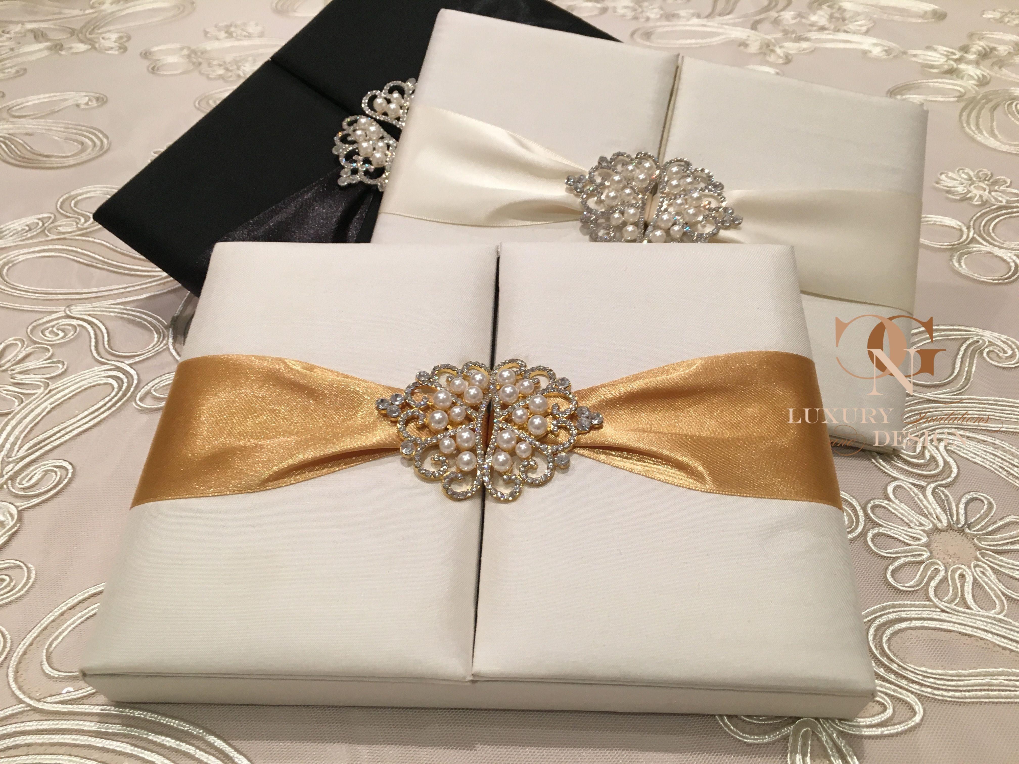 Seideneinladung Von Gnc Luxury Invitations Design Gold Black And Ivory Silk Wedding Invitations New Also In Switz Hochzeitseinladung Einladungen Hochzeit