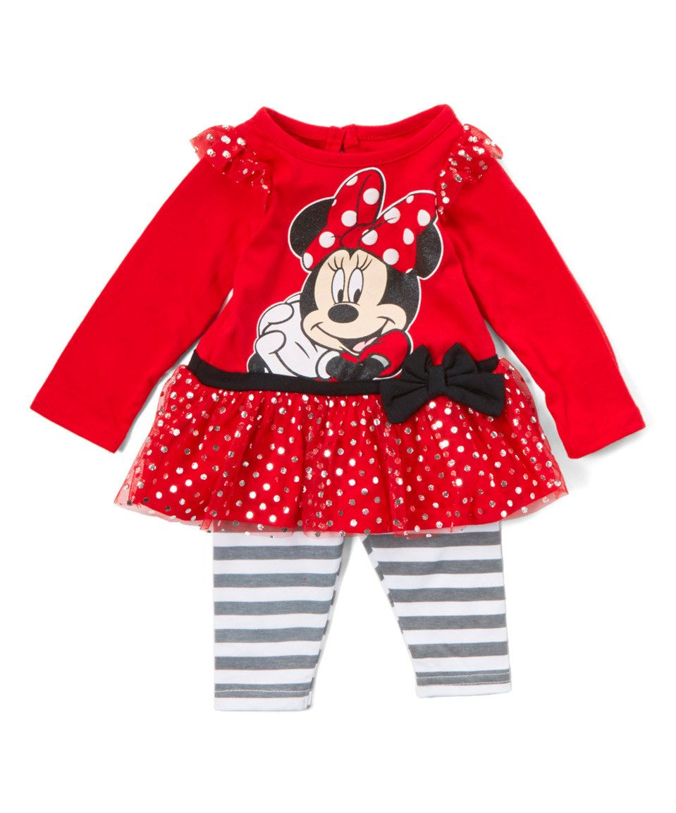 6af423d6a67c Loving this Red Minnie Mouse Playsuit - Infant on  zulily ...