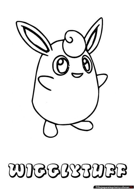 Dibujos De Pokemon Para Imprimir Y Colorear Wigglytuff