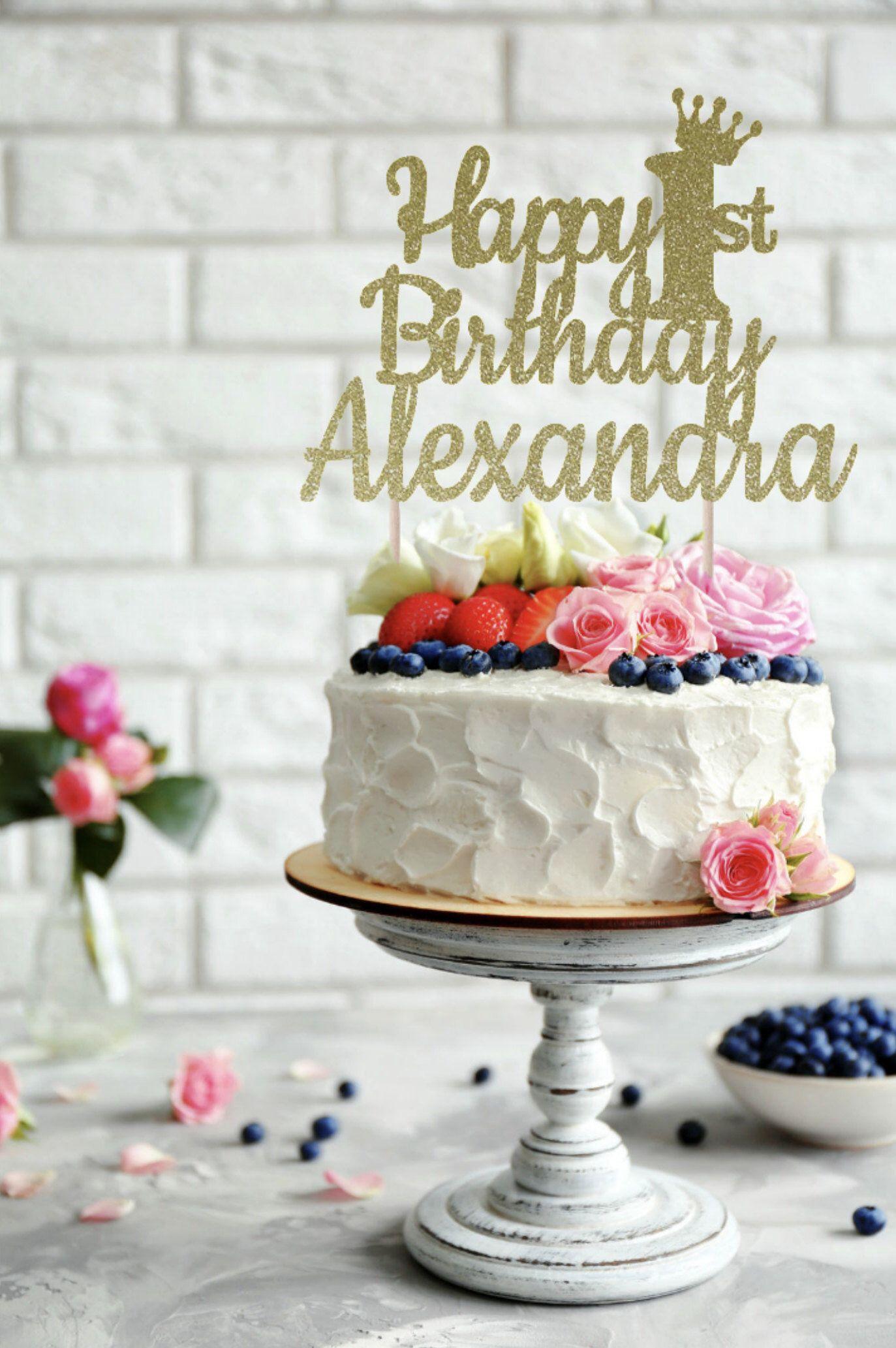 Any name any age happy birthday cake topper birthday cake topper