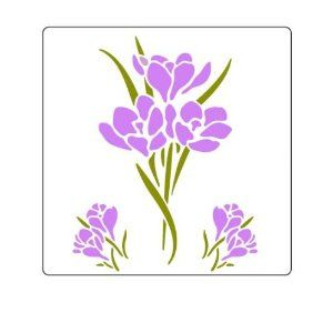Spring flowers stencil decorating with stencils pinterest spring flowers stencil mightylinksfo