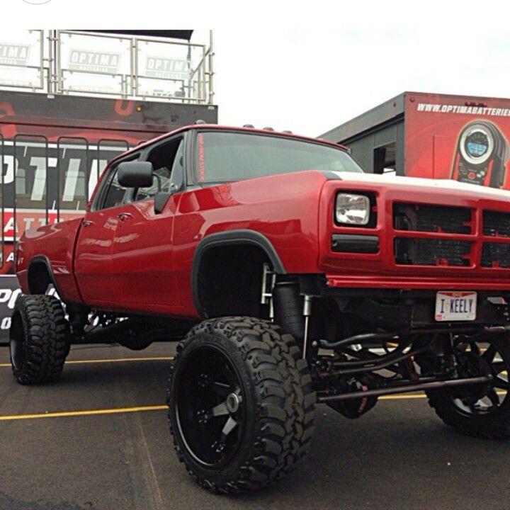 Pin By Eric Waddell On Dodge Trucks: Bad A$$ First Gen Custom Crewman Cummins .