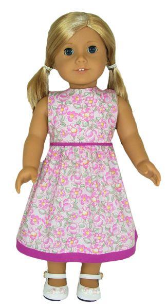 American Girl Summer Dress Sew Easy Pinterest Doll Clothes Custom American Girl Doll Clothes Patterns Free
