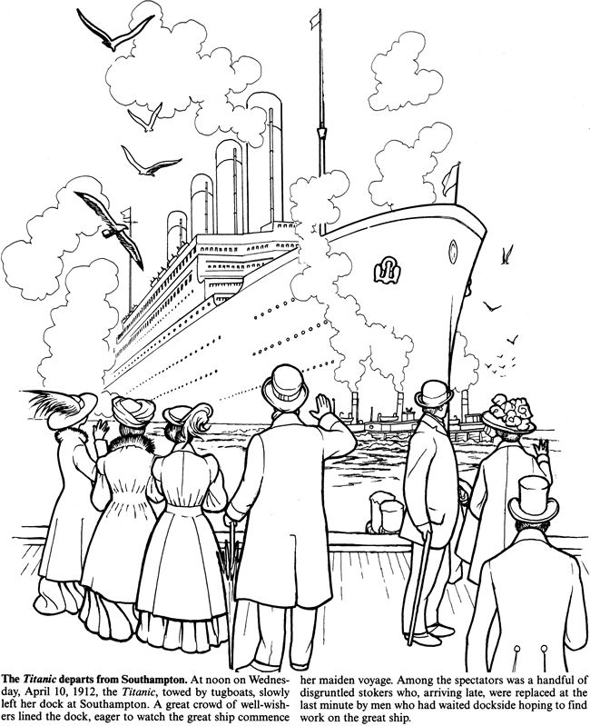 Welcome to Dover Publications | !Crafts: Coloring Pages | Titanic ...