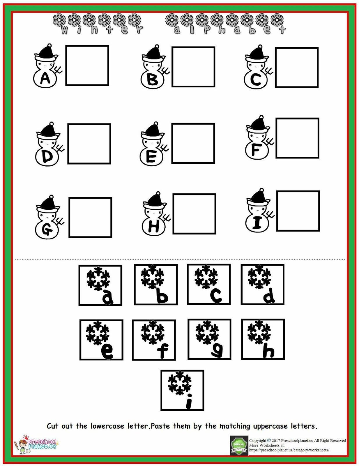 Winter Alphabet Worksheet