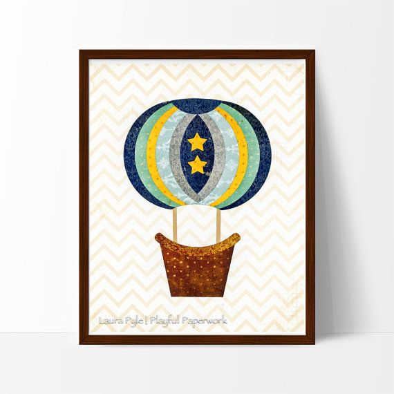 This charming, vintage-inspired hot air balloon will add a touch of whimsy to any nursery, playroom or kid's room.
