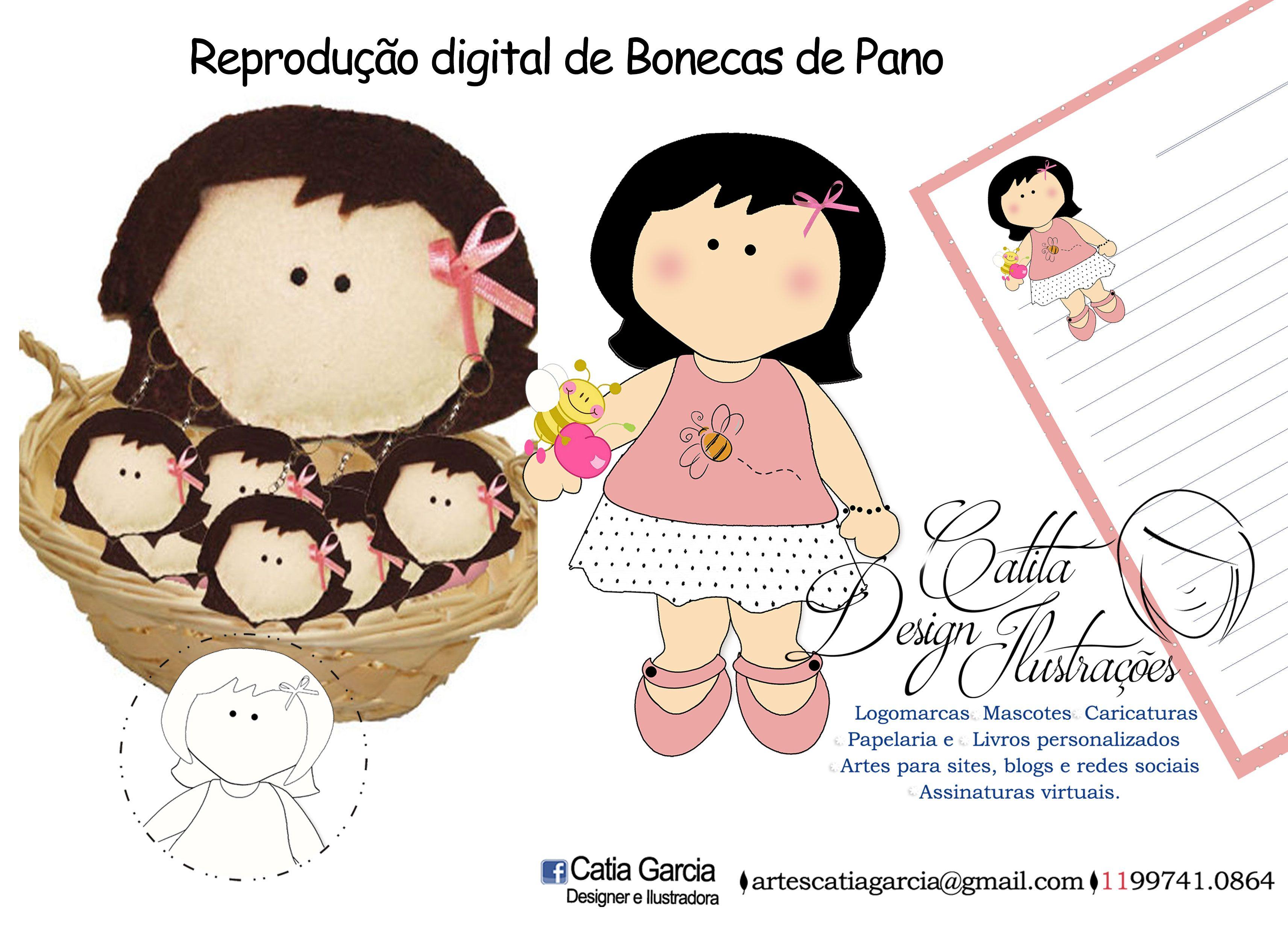 Bonecas de Pano & Ilustrações https://www.facebook.com/catiagarciailustradora#