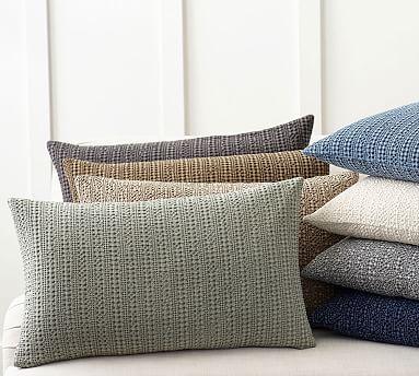 pottery barn honeycomb lumbar pillow