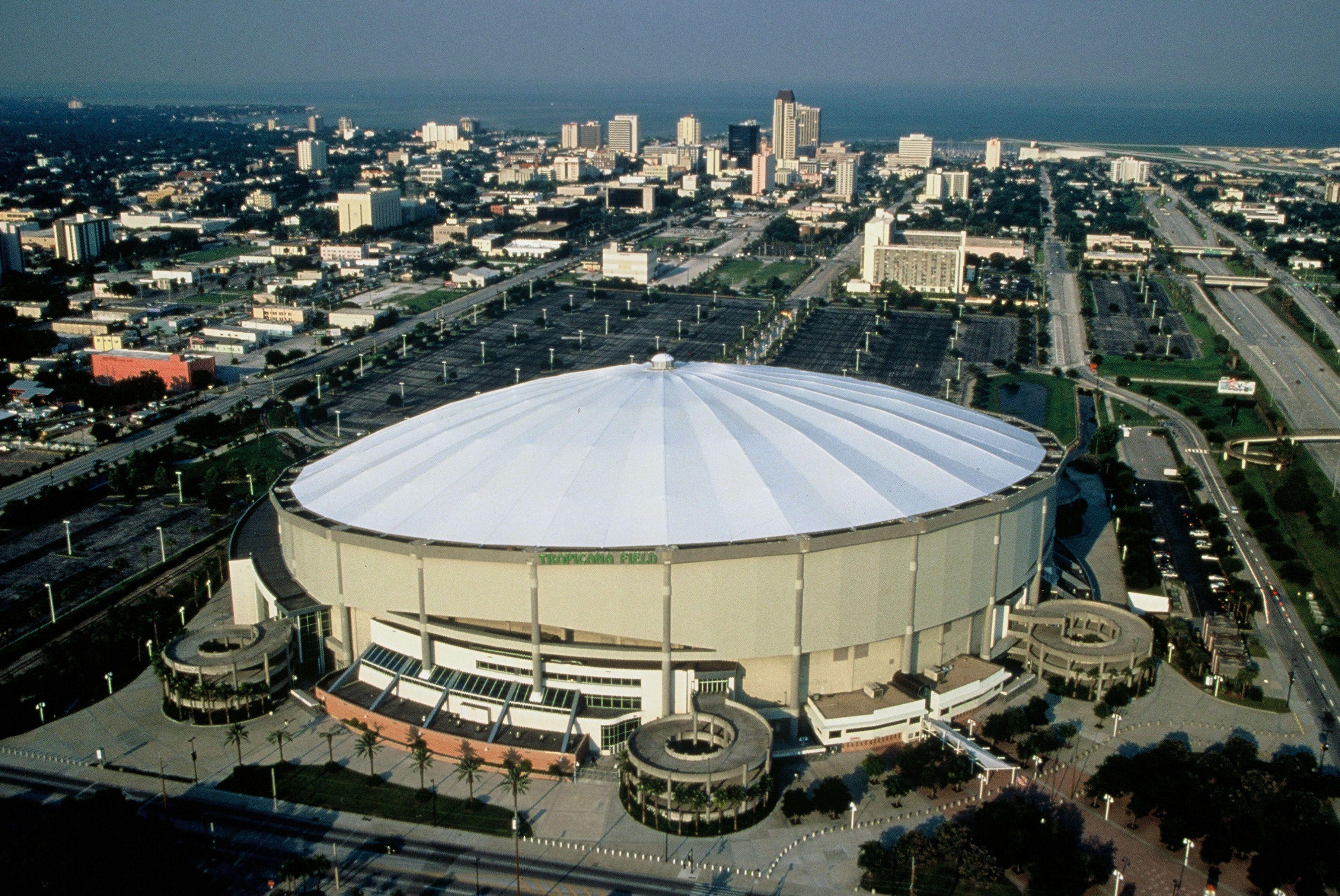 Tropicana Field St Petersburg Baseball Park Tampa Bay Rays Stadium Mlb Stadiums