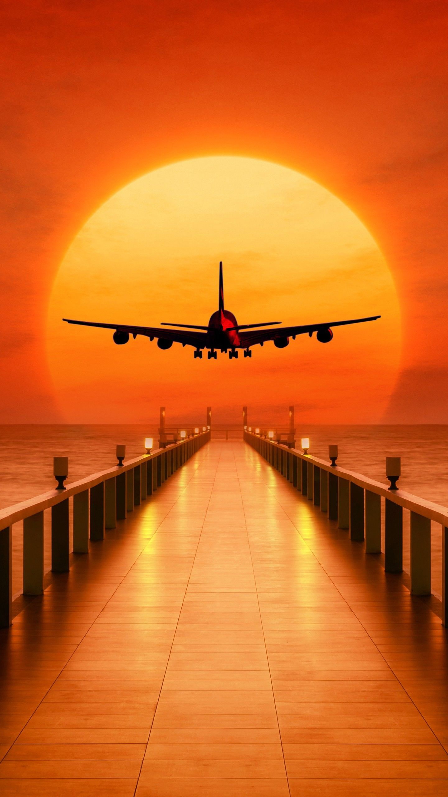 #Misc #Airplane Sunset Takeoff #wallpapers hd 4k background for android :) | Misc | Airplane ...