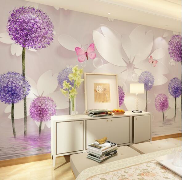 Barato flor mural 3d pap is de parede sala quarto papel de - Papel de pared barato ...