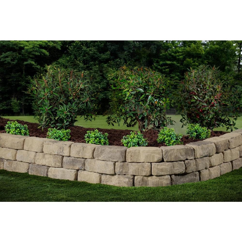 Oldcastle Mini Beltis 3 In H X 8 In W X 4 In D Tan Charcol Concrete Retaining Wall Block 378 Piece Pallet 16253061 The Home Depot In 2020 Concrete Retaining Walls Retaining Wall Block Retaining Wall