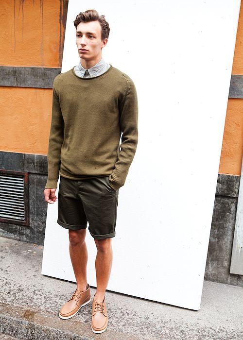 greens men shorts sweater