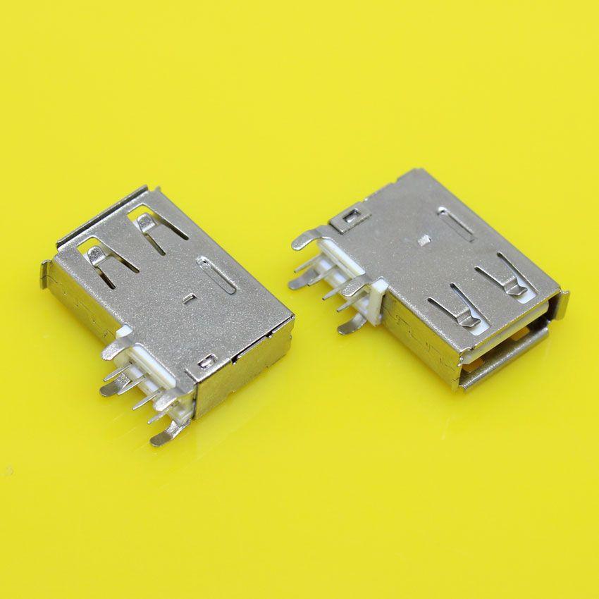 Us 027 Usb Type A Female Pcb Mount Socket Connector High Quality Vertical Usb A Female Socket Jack Connector 90 Degree Usb Type A Usb Vertical