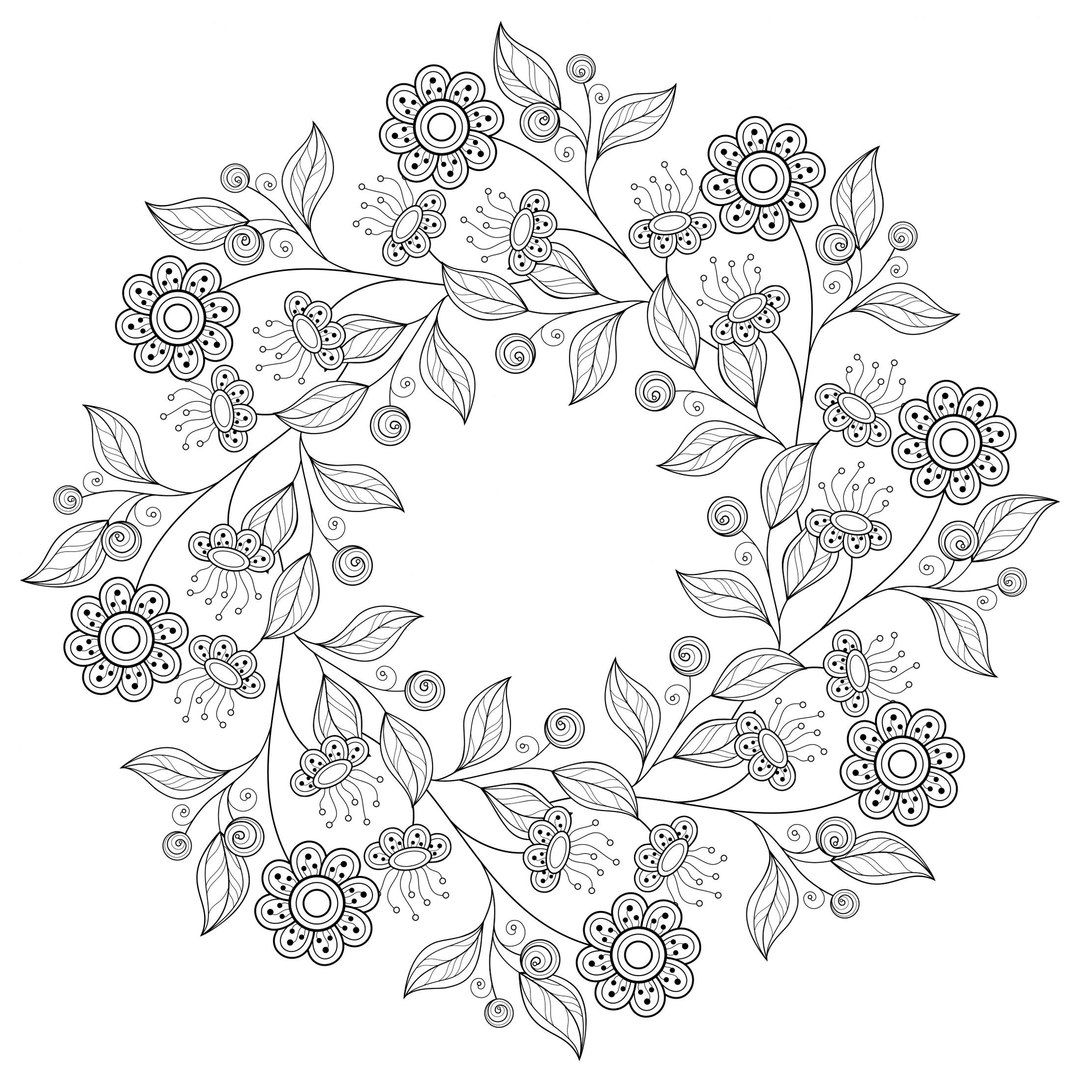 Стена flowery coloring page paper craft and cards pinterest