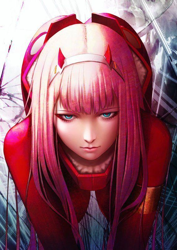 Darling in the Franxx Anime Digital Printable Poster '' 19x13