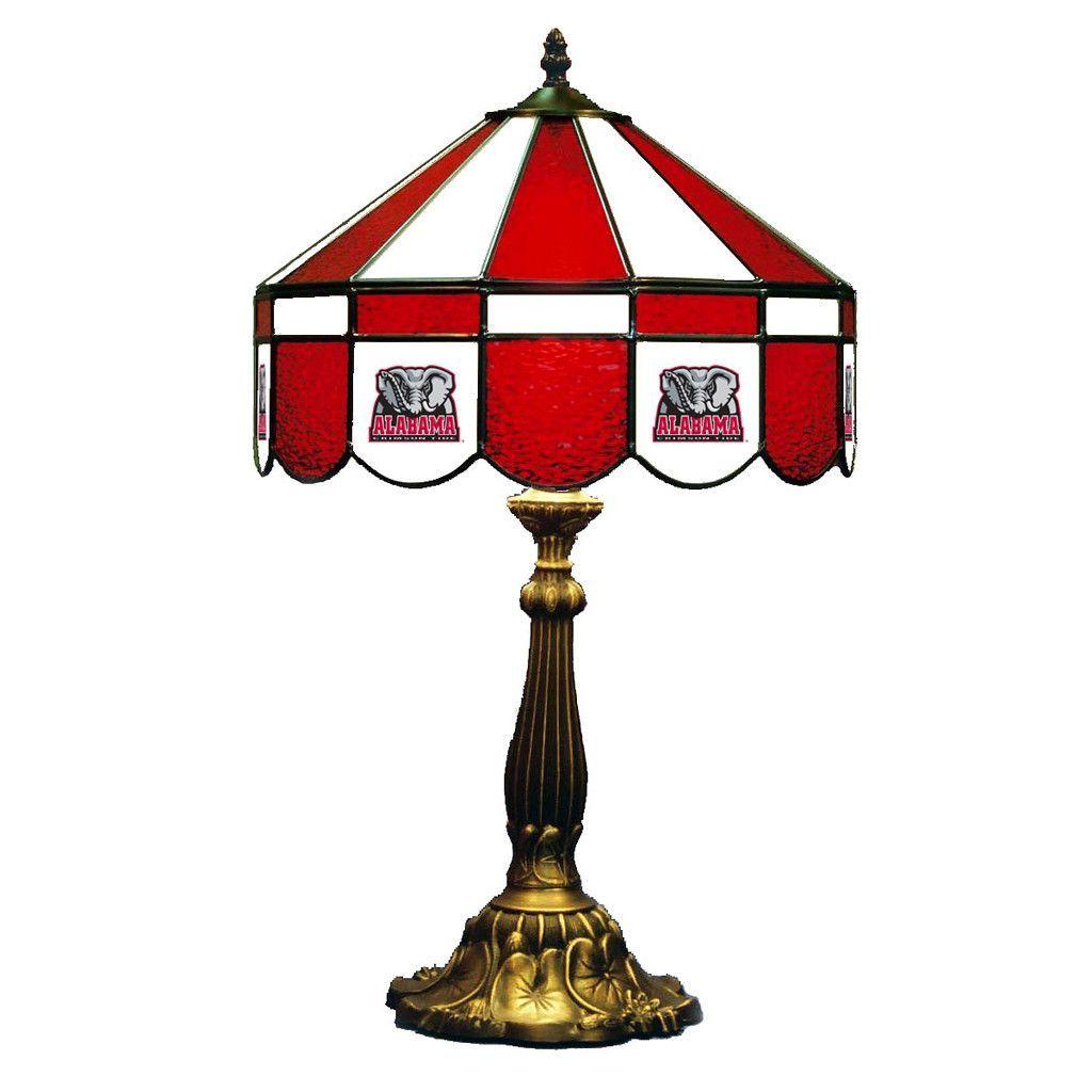 """Alabama Crimson Tide 16"""" Tiffany Style Table Lamp"""