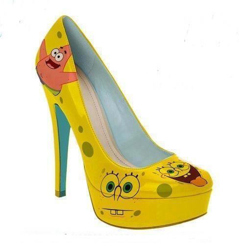 Spongebob heels!! | Heels, Bob shoes, Shoes