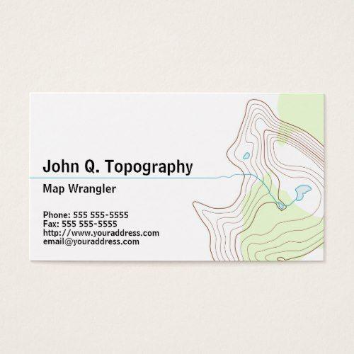 Geologist cartographer topographic map personal business card geologist cartographer topographic map personal business card colourmoves