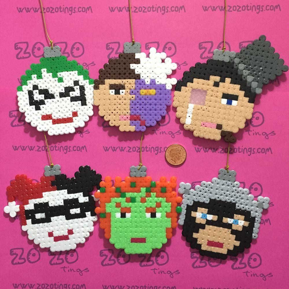 Gotham Villains Christmas Pixel Baubles via Zo Zo Tings. Click on ...