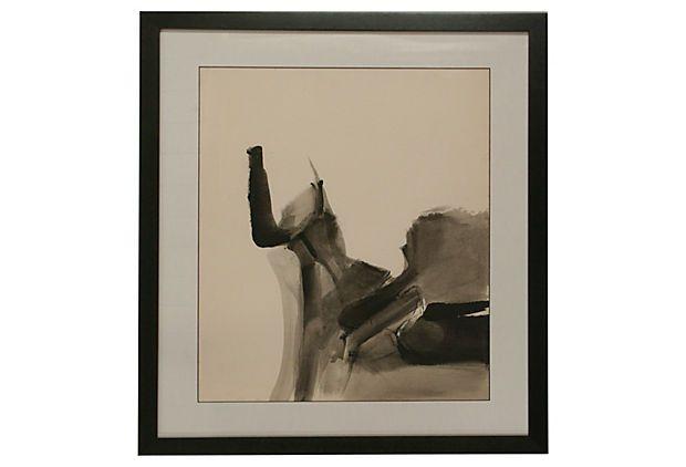 Black & White Abstract #2 on OneKingsLane.com. Original vintage art from Anna Hackathorn.