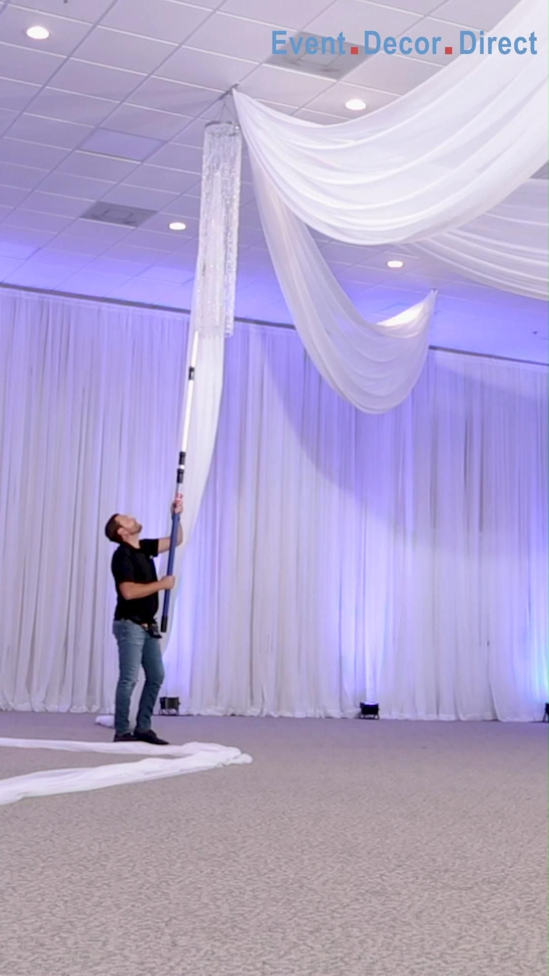 ON SALE: Easy-to-Use Ceiling Draping Kits. Create