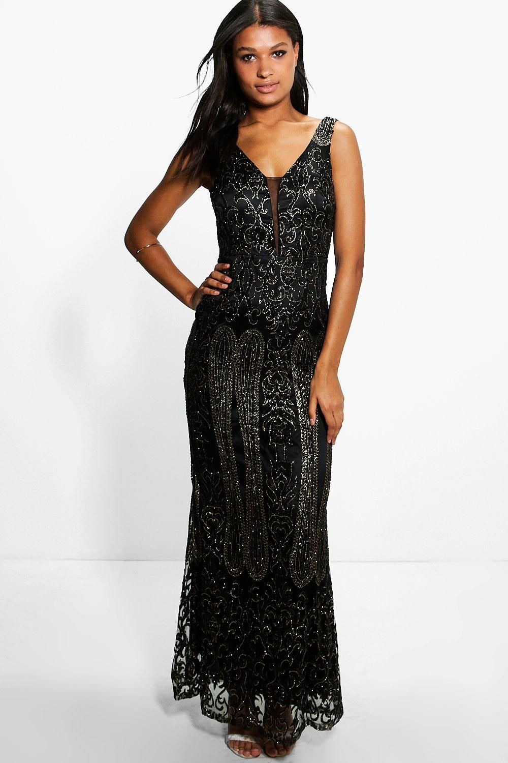 7bb493165624 Boutique Joan All Over Embellished Maxi Dress   Prom   Dresses ...