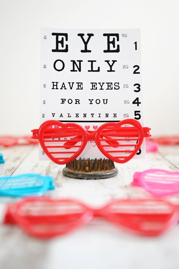 DIY Valentines  Eye Like You Valentine is part of Diy valentines cards, Valentines diy, Free printable valentines cards, Valentines printables free, Free valentine cards, Printable valentines cards - I'm kind of in love with these silly little DIY valentines  The kids and I always get a kick out of checking our eyes when we're at Costco  The optometrist has an eye chart that is visible from the checkout lanes, so we always pass our time waiting in line seeing who can read the