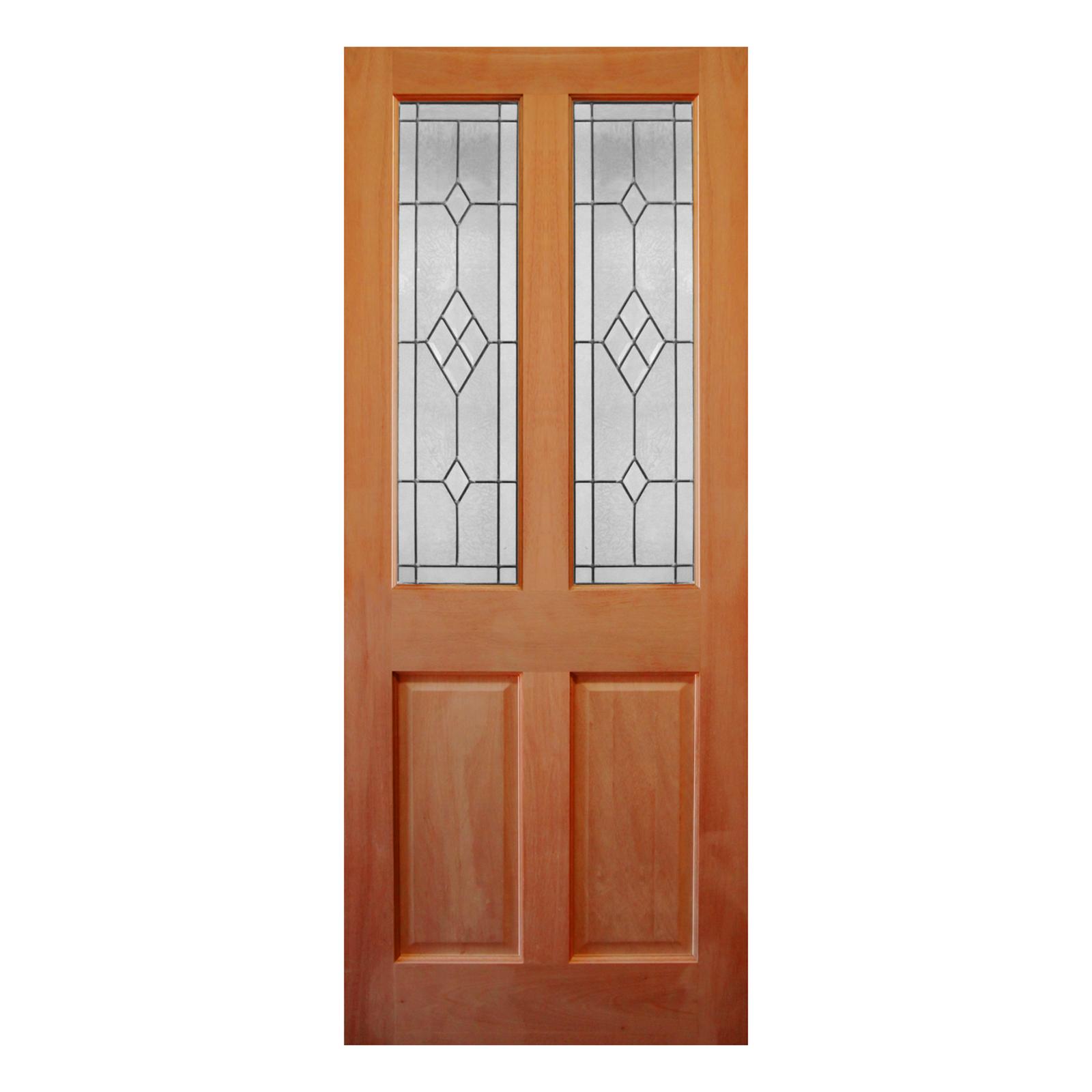 Corinthian Doors 2040 X 820 X 40mm Windsor Bevelled Diamond Jewel Entrance Door Beveled Glass Timber Panelling Entrance