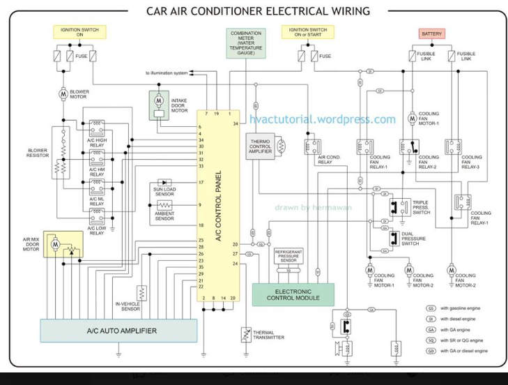 Pin By Student On Cooling Electrical Wiring Electrical Wiring Diagram Refrigeration And Air Conditioning