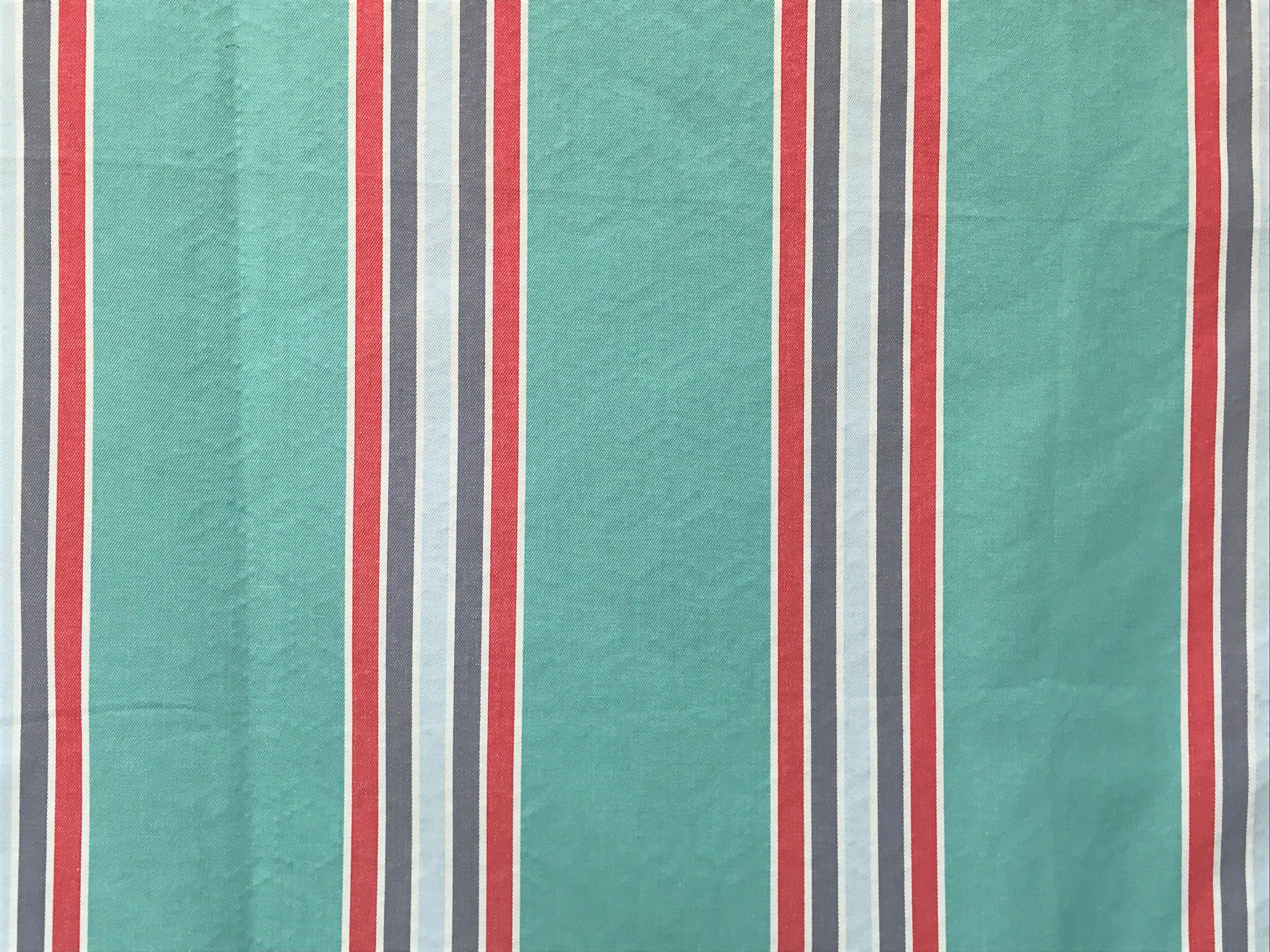 Curtain Fabric Wholesale Sea Green Red And Blue Stripes Curtain Fabric By The Yard