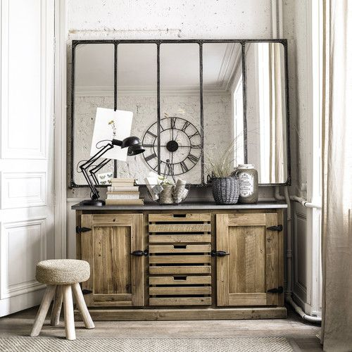 buffet en bois recycl l 160 cm indus pinterest. Black Bedroom Furniture Sets. Home Design Ideas