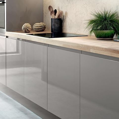 The Backboard On Our Bayswater Gloss Cashmere Kitchen Is