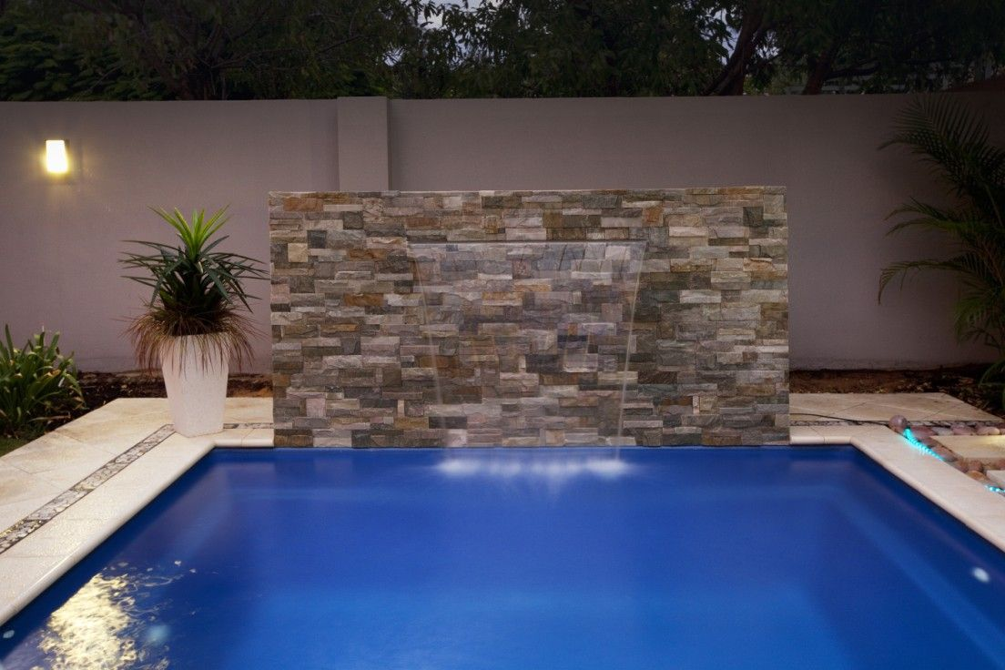 Plunge Pool But With A Stone Deck Swimming Pools Backyard Pool Water Features Backyard Pool