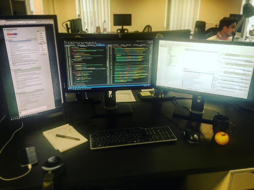 - A Typical #programmers Desk! #code #programmerslife #lovecode