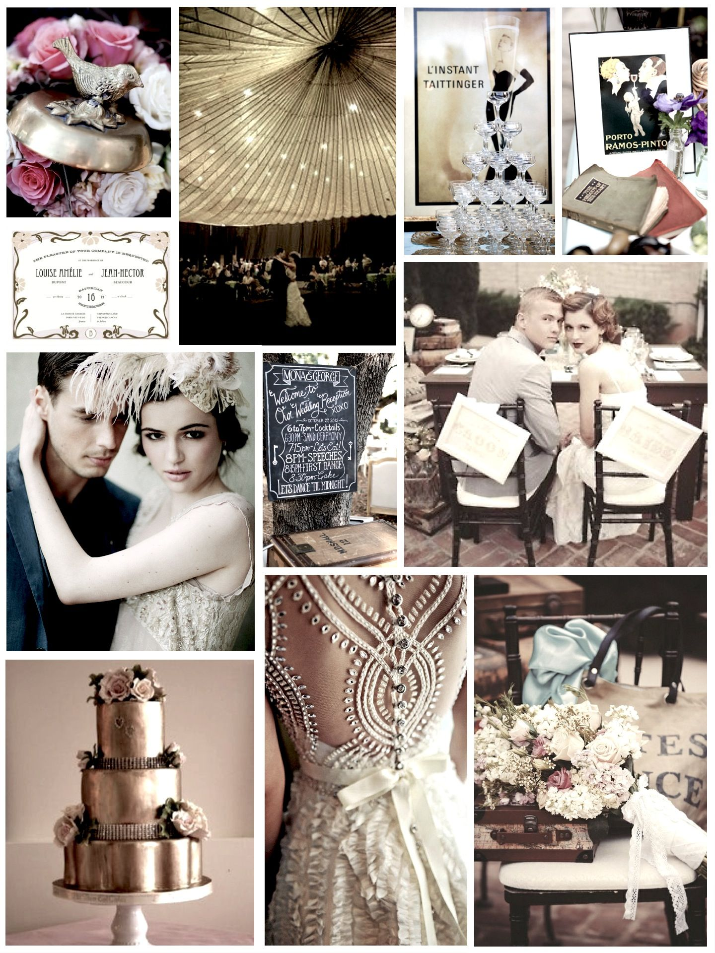 Pin By Mariejose On Moodboards 1920s Wedding Theme 1920 Wedding Theme 1920s Wedding