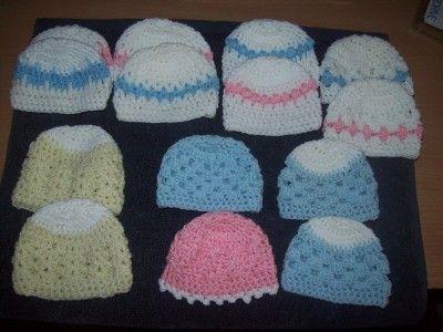 Crochet Preemie Baby Hats  700f5675a58
