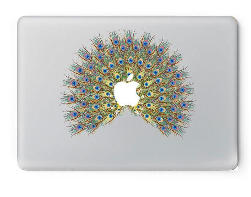 Peacock feather Pattern Vinyl Decal Sticker for Apple