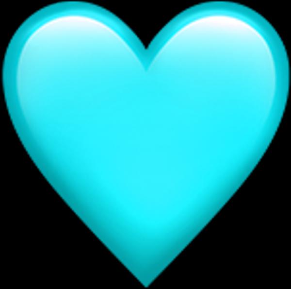 Teal Transparentbackground Heart Emoji Transparent Background Blue Heart Emoji Heart Emoji Pink Heart Emoji