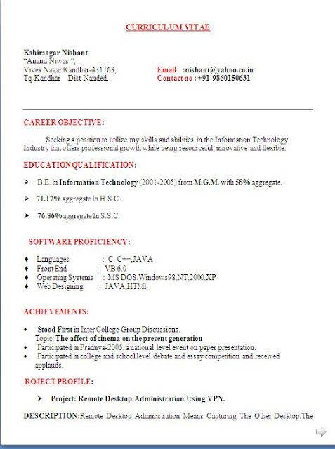 best resume fonts free download Sample Template Excellent Curriculum