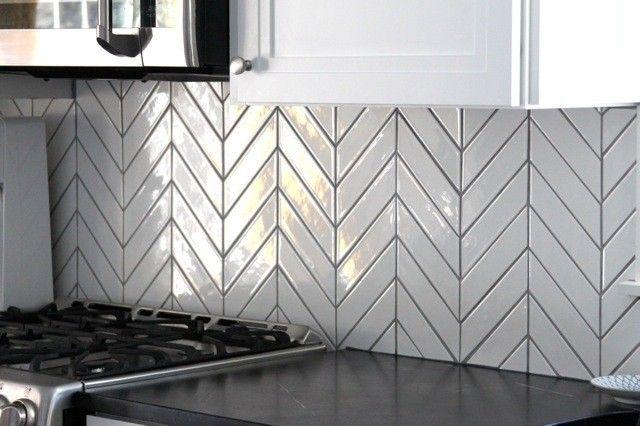 Kiln Ceramic Chevron Tile 103 Colors Konyha