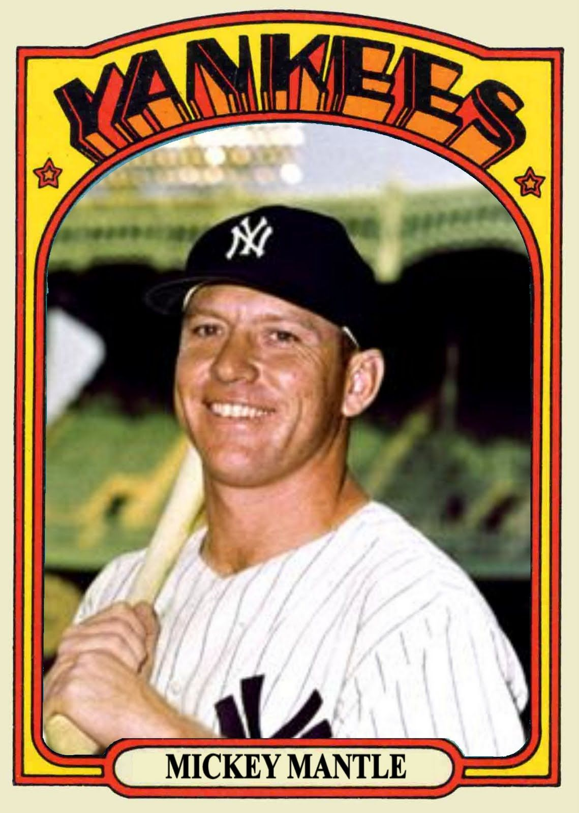 Cards That Never Were 1972 Topps Mickey Mantle Mickey Mantle Mantle Baseball Classic