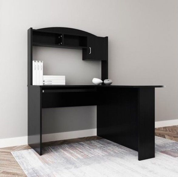 Details about Home Office Furniture L-Shaped Desk Wooden Computer