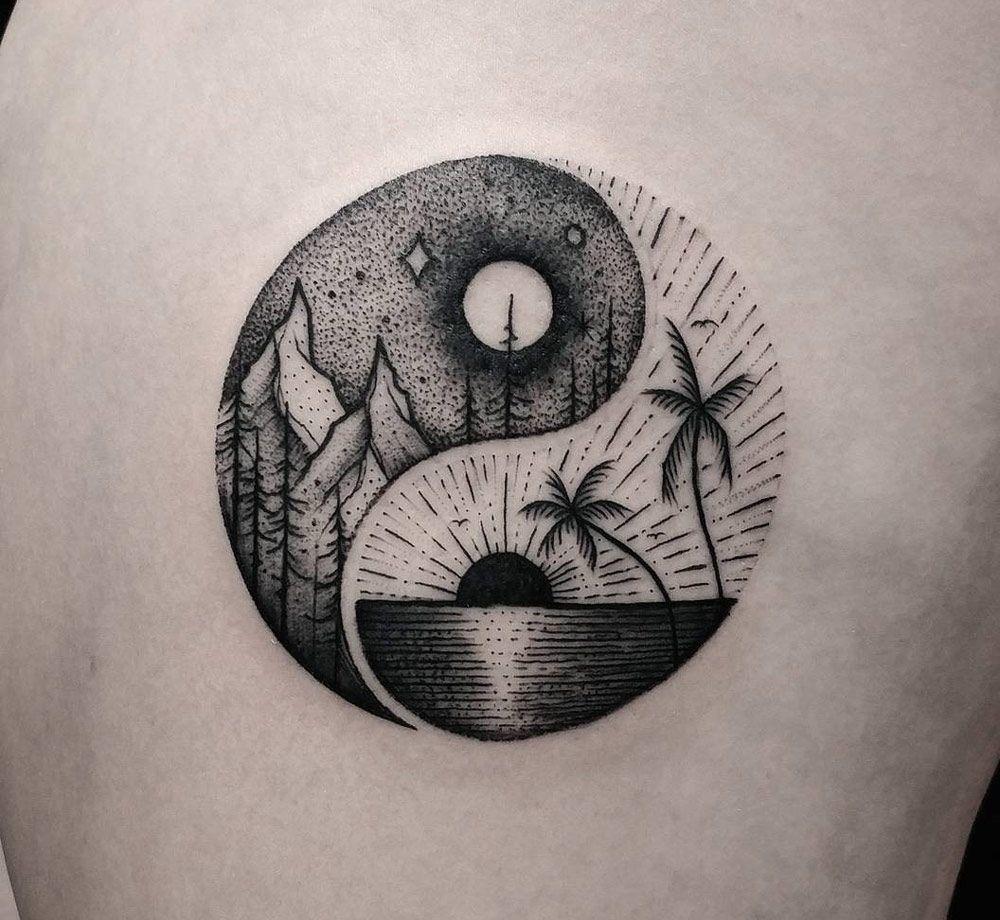 Balance Tattoos Tattoos Yin Yang Tattoos World Travel Tattoos