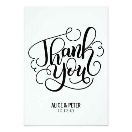 Thank You Card Wedding Engagement Engagement Engagement Party